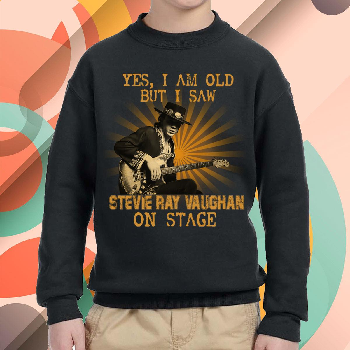 I Am Old But I Saw Stevie Ray Vaughan Youth Sweatshirt
