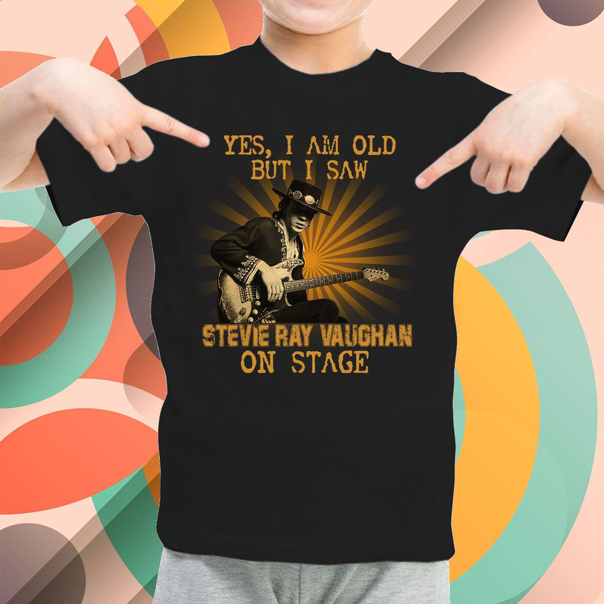 I Am Old But I Saw Stevie Ray Vaughan Youth T-Shirt