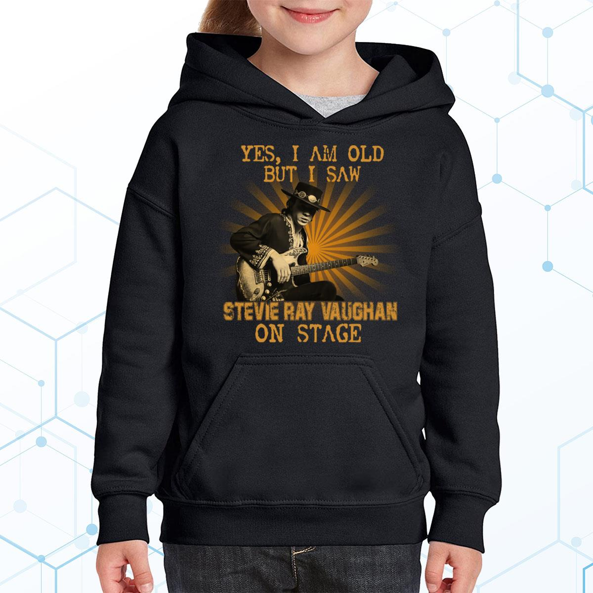 I Am Old But I Saw Stevie Ray Vaughan Premium Youth Hoodie