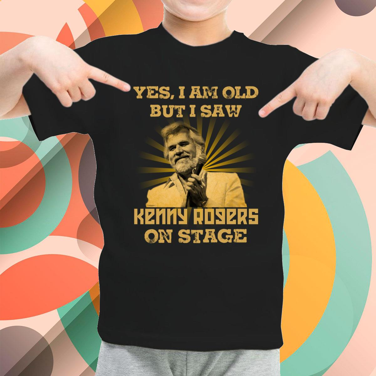 I Am Old But I Saw Kenny Rogers Youth T-Shirt